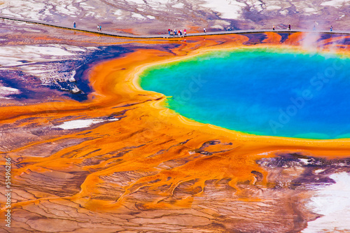Wall Murals Natural Park Grand Prismatic Spring in Yellowstone National Park