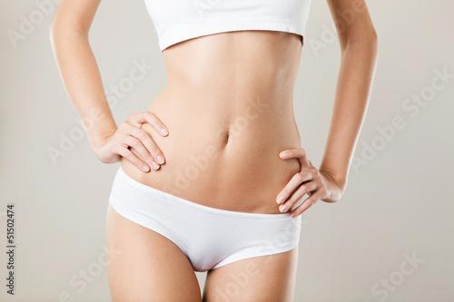 Fotografía  Perfect Slim Woman Body. Diet Concept