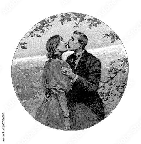 Fotografie, Obraz  The Kiss - Le Baiser - 19th century