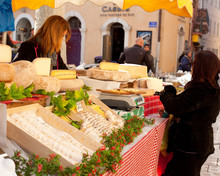 Sale Of French Cheese In A Str...