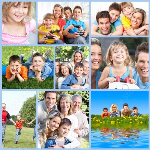 Happy family collage. #51511639