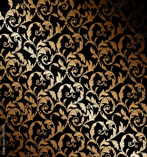 Fotografie, Obraz  Beautiful gold wallpaper