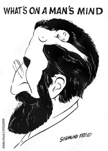 "Valokuvatapetti ""What is on a man's mind"" by Sigmund Freud"