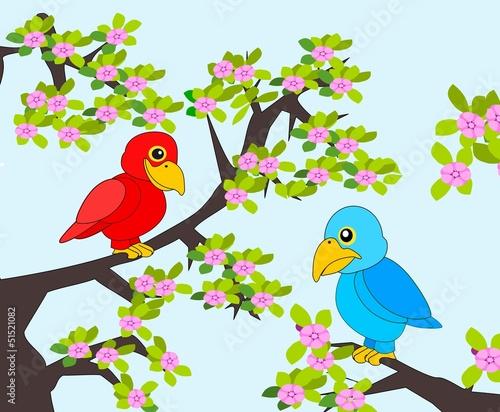 Poster Oiseaux, Abeilles Parrots