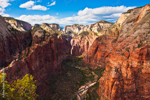 Poster de jardin Parc Naturel Great Landscape in Zion National Park,Utah,USA