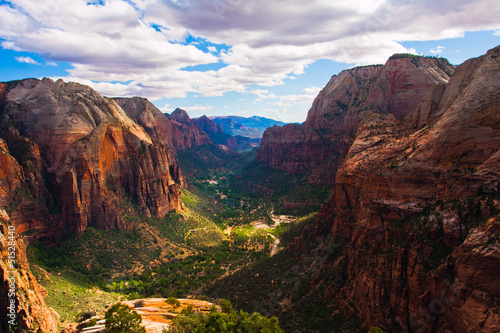Poster Parc Naturel Great Landscape in Zion National Park,Utah,USA