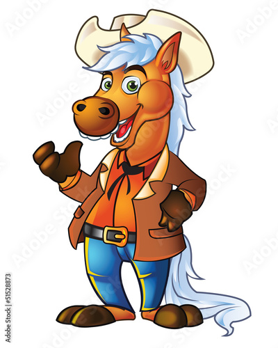 Aluminium Prints Wild West Pony Cowboy
