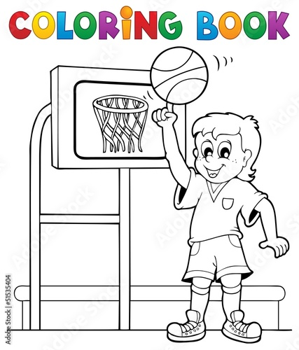 Spoed Foto op Canvas Doe het zelf Coloring book sport and gym theme 3