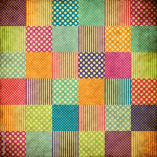 patchwork grunge background Fototapete