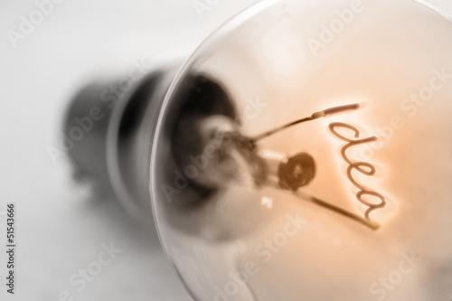 Fotografía  Filament spelling out idea