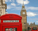 London Telephone Booth and Big Ben - 51546220