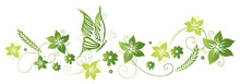 Frühling, Frame, Blätter, La...