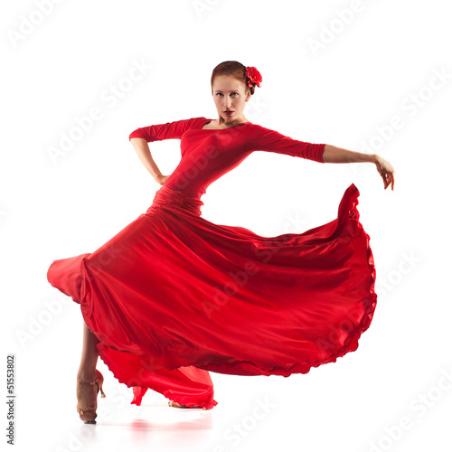 Recess Fitting Carnaval woman dancer wearing red dress