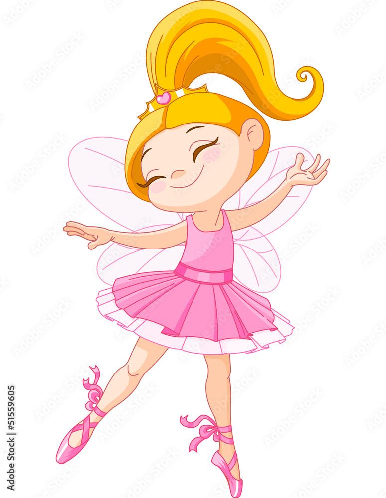 Foto-Stoff - Little fairy ballerina