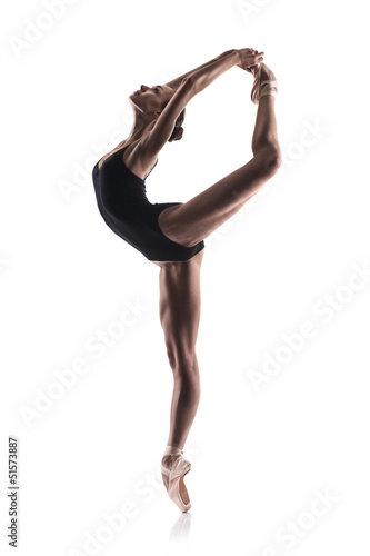 Fotografia beautiful ballet dancer isolated