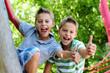 canvas print picture - Glückliche Kinder