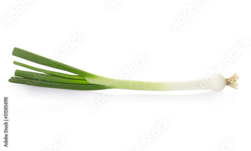 Fresh onion on white, clipping path included Fototapeta