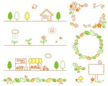 自然 植物 素材セット 02