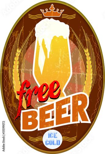 free beer sign,vector illustration