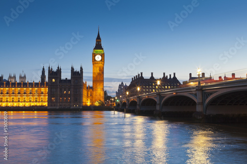 Foto op Canvas Praag Houses of Parliament, iconic Big Ben (1834), London, UK
