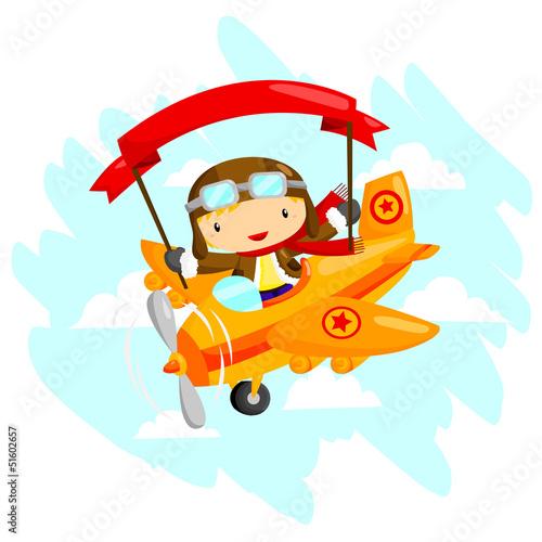 In de dag Vliegtuigen, ballon Pilot