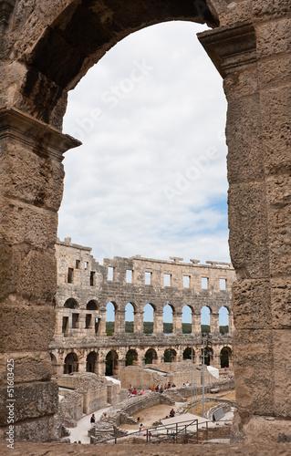 Poster Maroc Roman amphitheater in Pula, Croatia