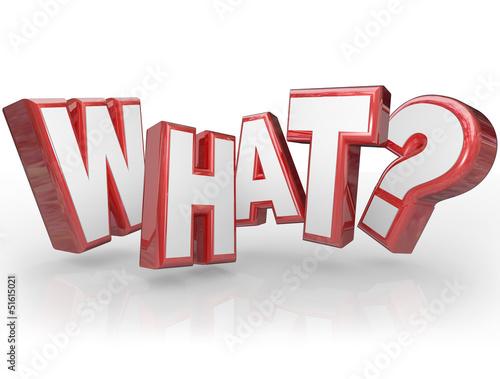 What Word Question Mark 3D Background Fototapeta