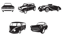 Sets Of Silhouette Cars 2, Cre...