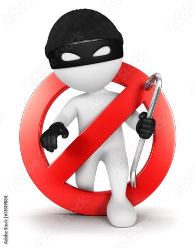 Fotografía  3d white people no thief
