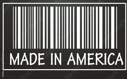 Photographie  made in america label