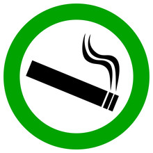 Smoking Area Vector Illustration