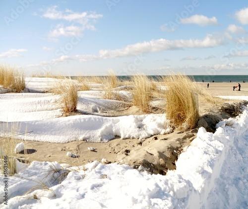 Foto-Schiebegardine Komplettsystem - schneebedeckte Düne (von Clarini)