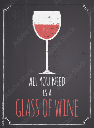 Chalkboard Red Wine Design