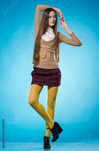 feaccc456 Teen girl with long straight hair - Buy this stock photo and explore ...