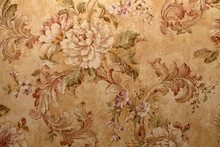 Vintage Wallpaper With  Floral...