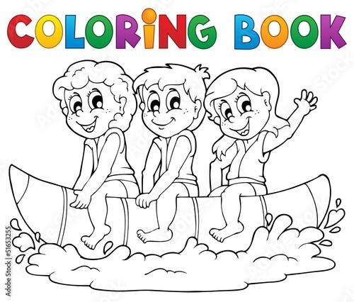Spoed Foto op Canvas Doe het zelf Coloring book water sport theme 3