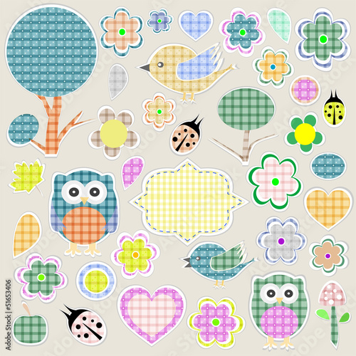 Nature textile stickers