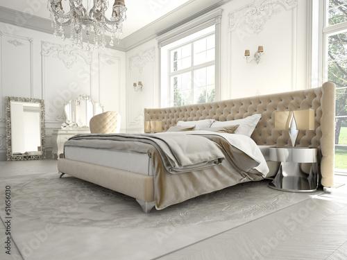 Posters In Slaapkamer : Poster retro slaapkamer met open haard en kaarsen u pixers we