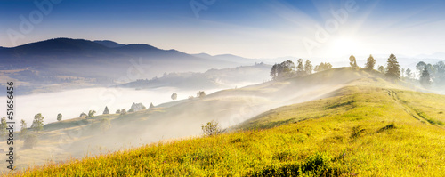 Canvas Prints Orange mountains landscape