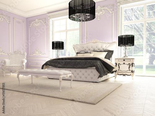 Lila Luxus Schlafzimmer