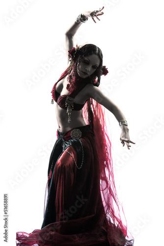 Photo sur Toile Art Studio arabic woman belly dancer dancing