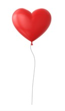 3d Red Heart Shapped Balloon I...