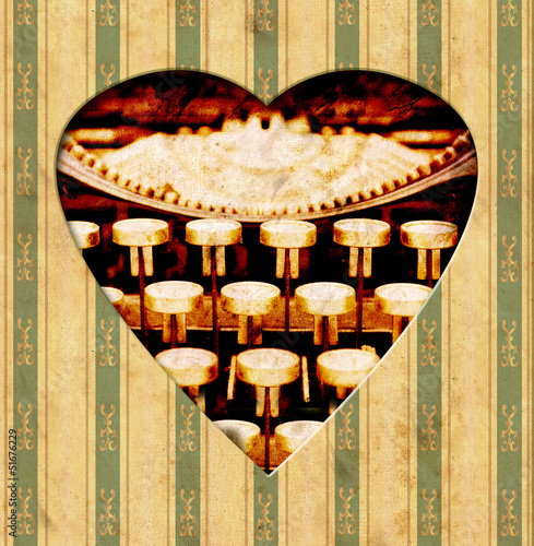 Printed kitchen splashbacks Vintage Poster Vintage Heart - Tasten