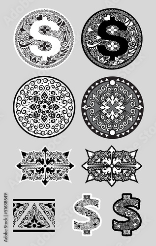 Swirl Ornaments 2