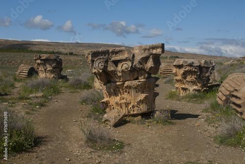 Poster Algérie Tête de colonne - Timgad - Algérie
