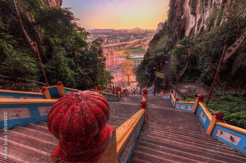Fotoposter Temple Stairs at Batu Caves