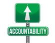 accountability road sign illustration design