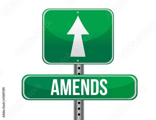 Photo amends road sign illustration design