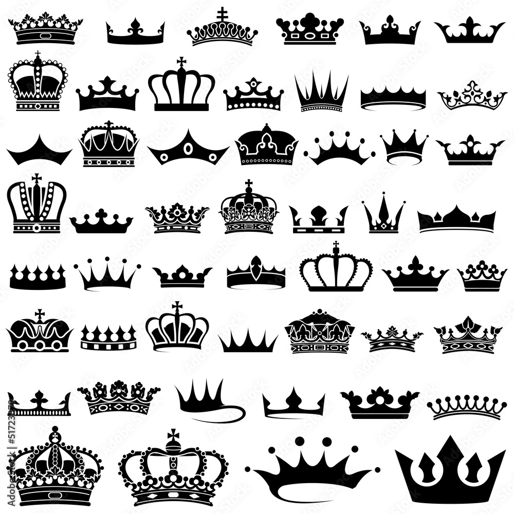 Fototapeta Crown design Set - 50 illustrations