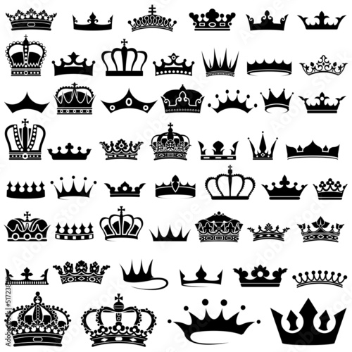 Fototapeta Crown design Set - 50 illustrations